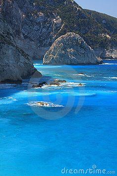 Beach of Porto Katsiki - the Ionian island of Lefkas #Greece