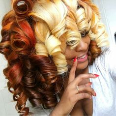 Thick natural hairs are whimsical when it comes to laying, so haircuts for thick hair can sometimes seem unflattering. Hairstyle is the key component of our ima Love Hair, Big Hair, Gorgeous Hair, Beautiful, Amazing Hair, Dope Hairstyles, My Hairstyle, Weave Hairstyles, Dreadlock Hairstyles