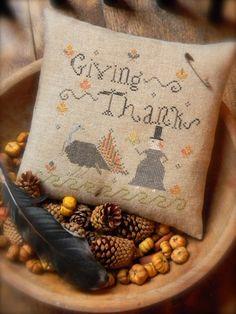 Giving Thanks - cross stitch PATTERN - from Notforgotten Farm