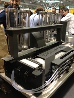 Love this Alpha Dominche Steampunk coffee brewing machine
