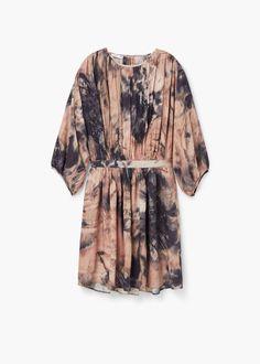Wzorzysta sukienka plisowana