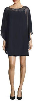 Xscape Embellished Cape Dress $189 thestylecure.com