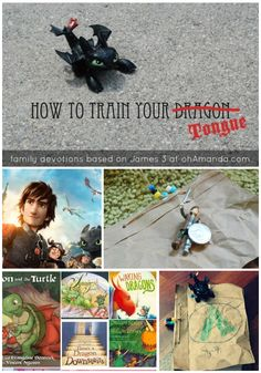 How To Train Your...Tongue // fun family devotions & activities based on James 3 and How To Train Your Dragon. ohAmanda.com
