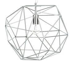 Ein kleines Juwel mit großer Wirkung: Pendelleuchte NOEMI besticht durch ihr offenes Diamanten-Design, das jeden Raum mit intensiver Leuchtkraft zum Funkeln bringt.