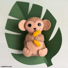 Monkey Stuffie with Banana