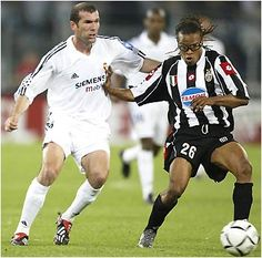 Edgar Davids and Zidane, one of the greatest soccer players of all time