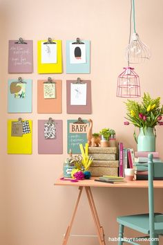 I like this idea to add some interest/colour to a wall