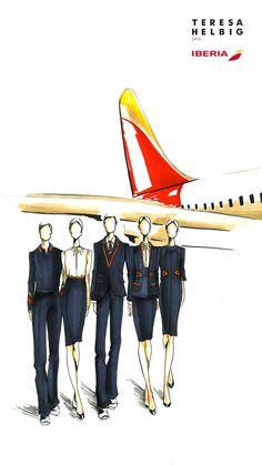Teresa Helbig es la primera mujer en diseñar el uniforme de la tripulación de Iberia - HarpersBAZAARES