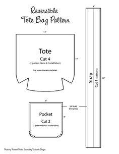 DIY Reversible Tote Bag (Template)
