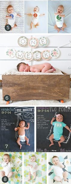 Adorable Monthly Baby Photo Ideas