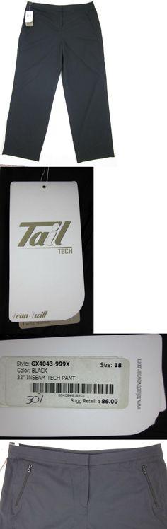 Pants 181148: Nwt! Women'S Tail Tech Golf Pants Black Sz.18 Gx4043 $86.00 -> BUY IT NOW ONLY: $43.5 on eBay!