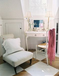 simple but lovely. diamond painted floors