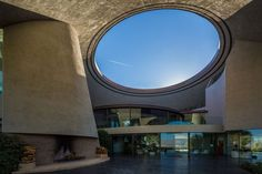 "Bob Hope's Palm Springs home – designed by John Lautner | A central ""skylight"" of sorts brings light deep into the interior"