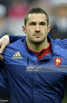 French national rugby team winger Scott Spedding looks on prior to the Six Nations international rugby union match between France and Scotland, on February 2015 at the Stade de France, northern Paris. French Rugby, Ireland Rugby, International Rugby, Six Nations, Scotland, February, Paris, Montmartre Paris, Paris France