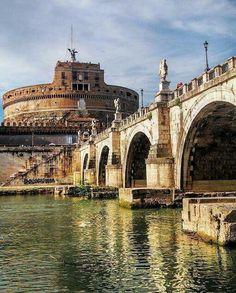 Castel St. Angelo, Ponte St. Angelo, Rome, Italy #Rome