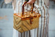 raffia bag | street style NYFW Spring 2017 | @KatyaGuseinova
