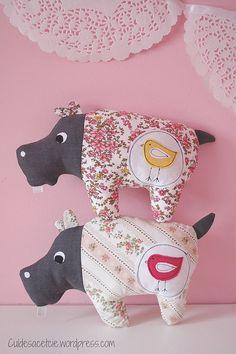 Eco-friendly stuffed Hippopotamus by Bouclenoire, via Flickr