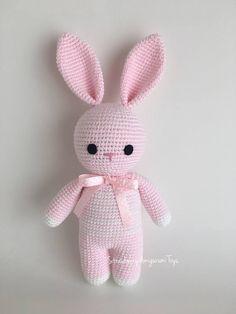 Crochet Amigurumi Sleeping Mate Bunny Price is for ONE BUNNY