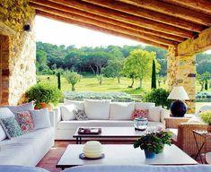 En la casa de campo...detalle de terraza