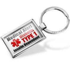 Amazon.com: Neonblond Keychains Medical Alert