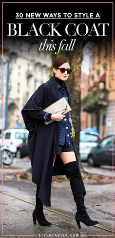 fall outfit ideas - 30 new ways to style a black coat