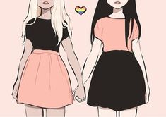 girl, lesbian, and lgbt image Lesbian Pride, Lesbian Art, Bisexual Pride Makeup, Lesbian Quotes, Bff Quotes, Friend Quotes, Crush Quotes, Art Lesbien, Yuri