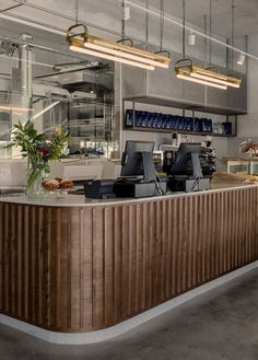 Gallery of Teller Bakery / Studio Michal Rosenzweig – 4 – Famous Last Words Bakery Shop Interior, Bakery Shop Design, Retail Interior, Cafe Interior, Shop Interior Design, Cafe Design, Retail Design, Restaurant Design, Restaurant Ideas