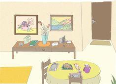 Projeto de contraplano da sala de estar