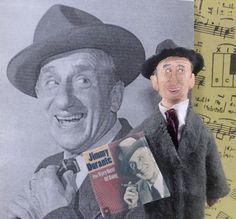 Jimmy Durante Schnozzola Doll Art Miniature by UneekDollDesigns