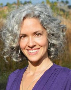 Short Hairstyle Grey Curly Hairstyles For