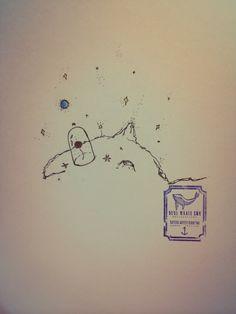 Little Prince Rose Tattoo Design From Blue Whale Ink Design by _park_tae_ Work In Korea, Seoul, Hongdae Kakao: taemin0509 Insta: _park_tae_ Email: hopetaemin@naver.com Phone: 010.9922.2511
