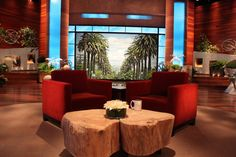 talk show sets - AOL Image Search Results Tv Set Design, Stage Set Design, Design Ideas, Concert Stage Design, Church Foyer, Tv Sets, Cool Coffee Tables, Living Room Tv, Retail Design