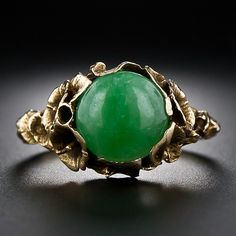 Natural Jade Ring - 30-1-4276 - Lang Antiques