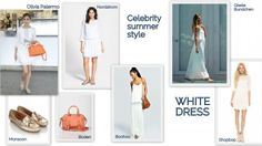 Celebrity Style: White Dress via shoppingpicks.com