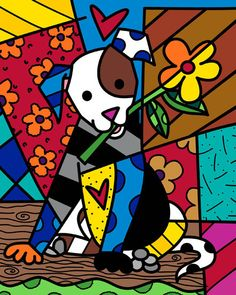 ROMERO BRITTO - Fine Art Prints - Would be a fun style to recreate.