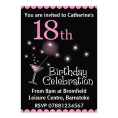 440 Best 18th Birthday Party Invitations Images 18th Birthday