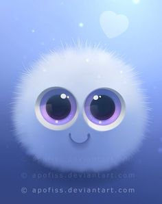 It's so cute I can hardly breath! fairy puff by Apofiss on deviantART Cute Animal Drawings, Cute Drawings, Tierischer Humor, Cute Monsters, Cartoon Monsters, Anime Animals, Cute Cartoon Wallpapers, Disney Wallpaper, Cute Baby Animals