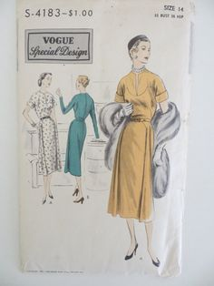 VOGUE SPECIAL DESIGN  Unprinted Pattern  No. S-4183    **Unused and factory folded with all original 13 pieces**  Includes instructions