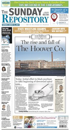The front page of The Canton Repository for March 12,, 2017. Read more at cantonrep.com