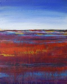 SOLD 'Warm Earth I' Contemporary Abstract Landscape Painting