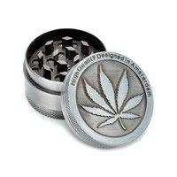 Wish | Silver Aluminum Alloy Grinders Weed Metal Rasta Metal Tobacco Herb Spice Grinder Smoking Weed Pipes 3Part Kaloud Shisha Hookah