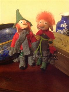 Polymer clay gnomes by Lydia Quayle