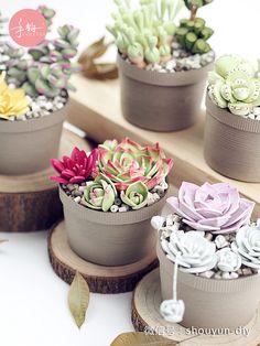 Paper quilling 衍纸多肉盆栽 Neli Quilling, Quilling Dolls, Quilling Work, Paper Quilling Designs, Quilling Craft, Quilling Flowers, Quilling Patterns, Paper Flowers, Quilling Ideas