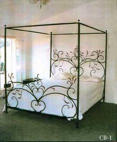 heart iron bed