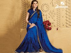Buy this stunning Multicolour Blue & Black Georgette glitter work saree with Rawsilk Dark Blue Color Blouse by Laxmipati. Look fresh, look chic! Limited stock! 100% Genuine products!  #Catalogue #SANGEET Price - Rs. 1817.00 Visit for more designs@ www.laxmipati.com.  #GaneshChaturthi #GaneshChaturthi2016 #Ganesh #monsoon #Shopping #Shoppingday #ShoppingOnline #fashionstyle #ReadyToWear #OccasionWear #Ethnicwear #FestivalSarees #Fashion #Fashionista #Couture #SANGEET0816 #LaxmipatiSaree #Au Laxmipati Sarees, Work Sarees, Dark Blue Color, Printed Sarees, Occasion Wear, Look Chic, Daily Wear, Bridal Collection, Ready To Wear