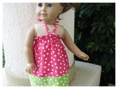 American Girl Doll 18 Inch Dotted Halter by BonJeanCreations, $15.49