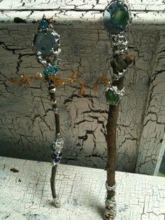 fairy wand, Fairy, Elf ,Magic Wand, fairy princess wand, woodland fairy wand. $45.00, via Etsy.