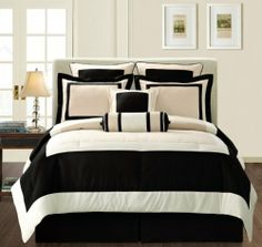 Fashion Street Black Gramercy 12-Piece Bed-In-a-Bag, Cal King by Fashion Street. $172.30. Set includes: 1 comforter, 2 shams, 1 bed skirt, 2 euro shams, 2 dec pillows, and 4-pc cotton sheet sets. Fabric 100% Polyester/Fill 100% Polyester/Sheets 100% Polyester. Cal King Comforter : 104 in x 94 in Sham : 21 in x 36 in Flat : 108 in x 102 in Fitted : 72 in x 84 in, 14 in deep Pillow case : 20 in x 40 in. Care instructions: Decorative pillows are spot clean only; Shams, skirt a...