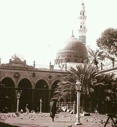 An old picture of # masjid al nabavi #Medina