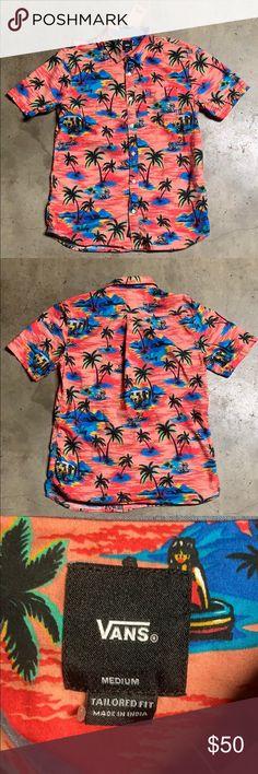 9465cd3b Vans Tropical Hawaiian Print Shirt (M) Features: Club Tropicana print vibes  (all